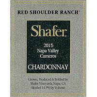Shafer 2015 Chardonnay, Red Shoulder Ranch, Carneros
