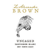 Z. Alexander Brown 2017 Sauvignon Blanc, Uncaged, North Coast
