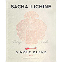 Rose 2016 Sacha Lichine, Single Blend, France