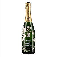 Perrier Jouet 2008 Belle Epoque Brut Champagne Gift Set w / Two Matching Painted Glasses