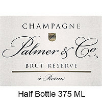 Palmer & Co. Brut Reserve NV Champagne, Half Bottle 375 mL