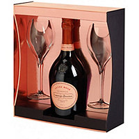 Laurent Perrier Cuvee Rose Brut NV Champagne w / 2 Glasses